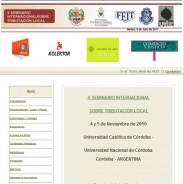 Seminario Internacional sobre Tributacion Local